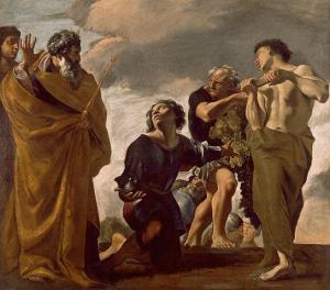 LANFRANCO Giovanni_Moses and the Messengers from Canaan (Mojžíš a poslové z Canaan), Řím, 1621 - 1624_(109kB)