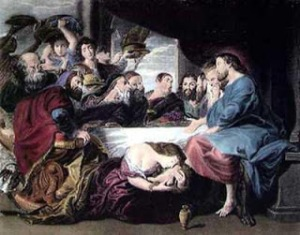 Mary Magdelene Anoints Jesus Feet 03