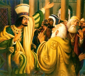 THE MAJI CONSULT WITH KING HEROD