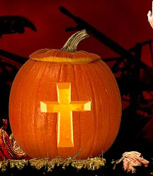 Christian-Cross-Carved-Pumpkin
